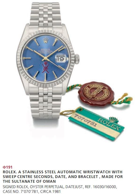 datejust rolex christies