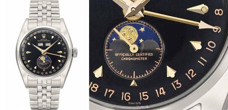Rolex Ref 6062 Triple Calendar on SS Jubilee Bracelet at Christie's