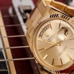 vintage gold rolex day date president bridge les paul gibson