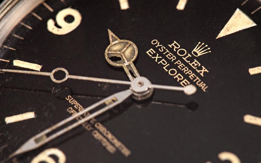 vintage Rolex Explorer Gilt Dial 1016
