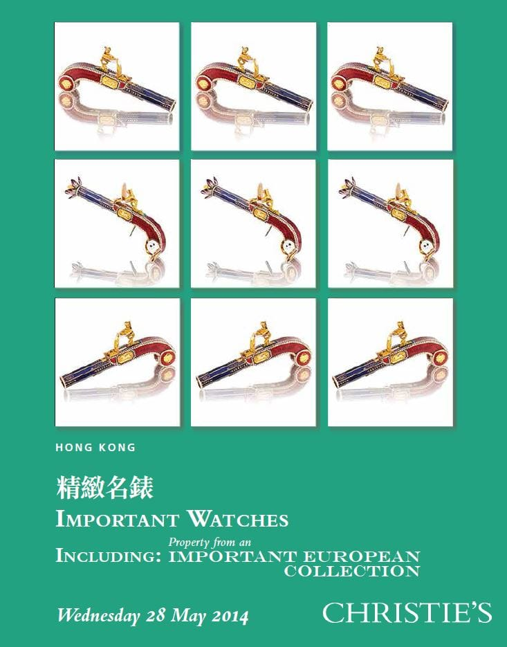 christies may hong kong important watches collection