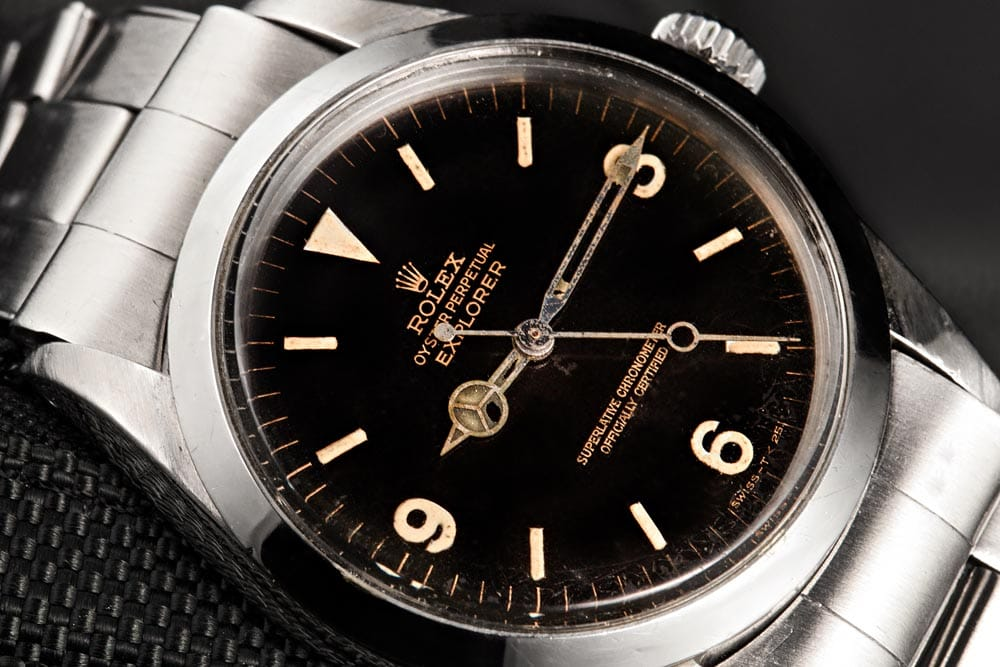 rolex explorer 1016 with black dial