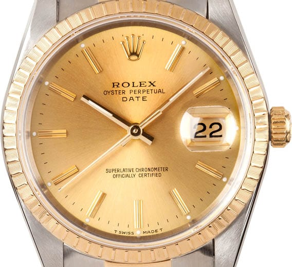 The golden face and bezel are desirable.