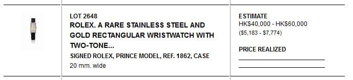 Rolex Reference 1862