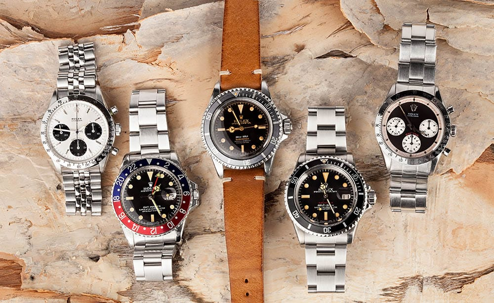 learning a passion for Rolex watches from mother
