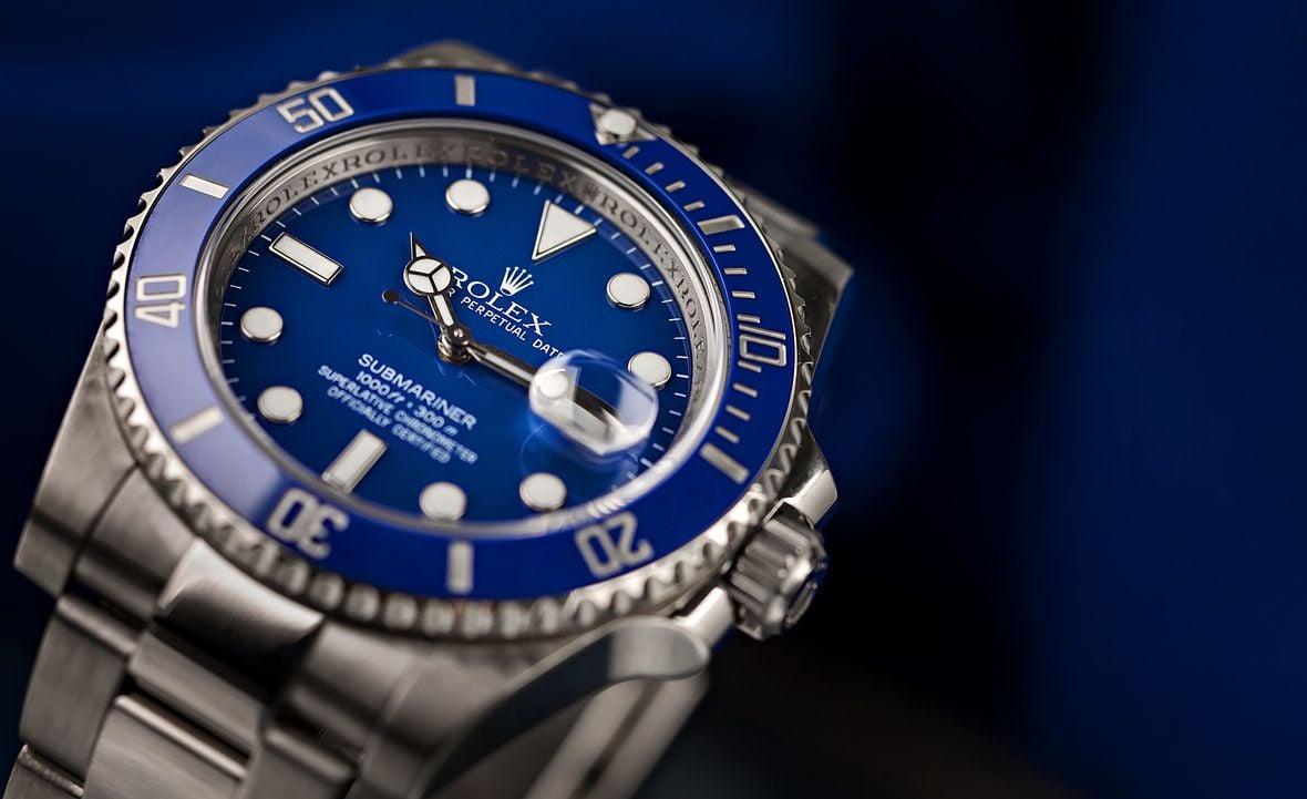 Rolex Submariner 116619 Smurf Blue Dial Bezel White Gold
