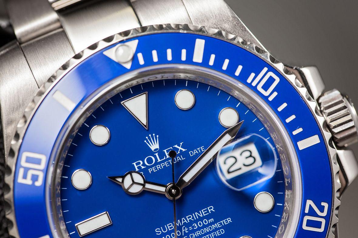Rolex Submariner 116619LB Smurf Blue Dial