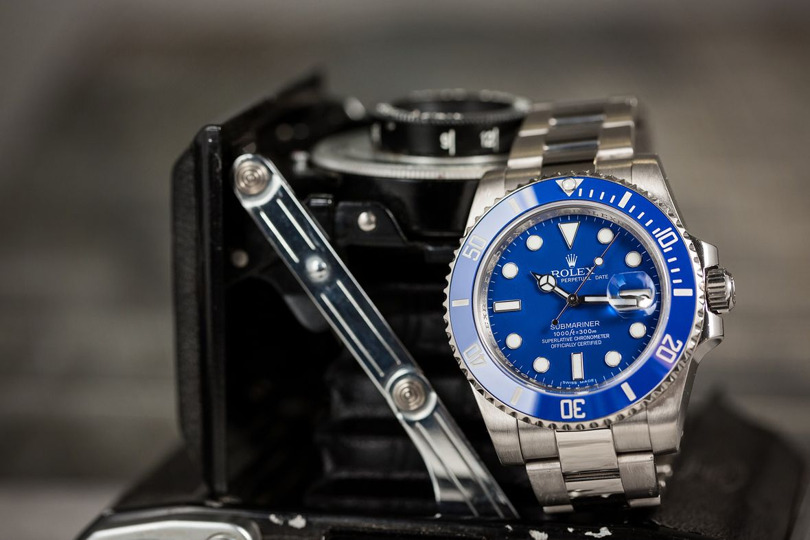 Rolex Submariner 116619 LB Smurf Blue Dial White Gold