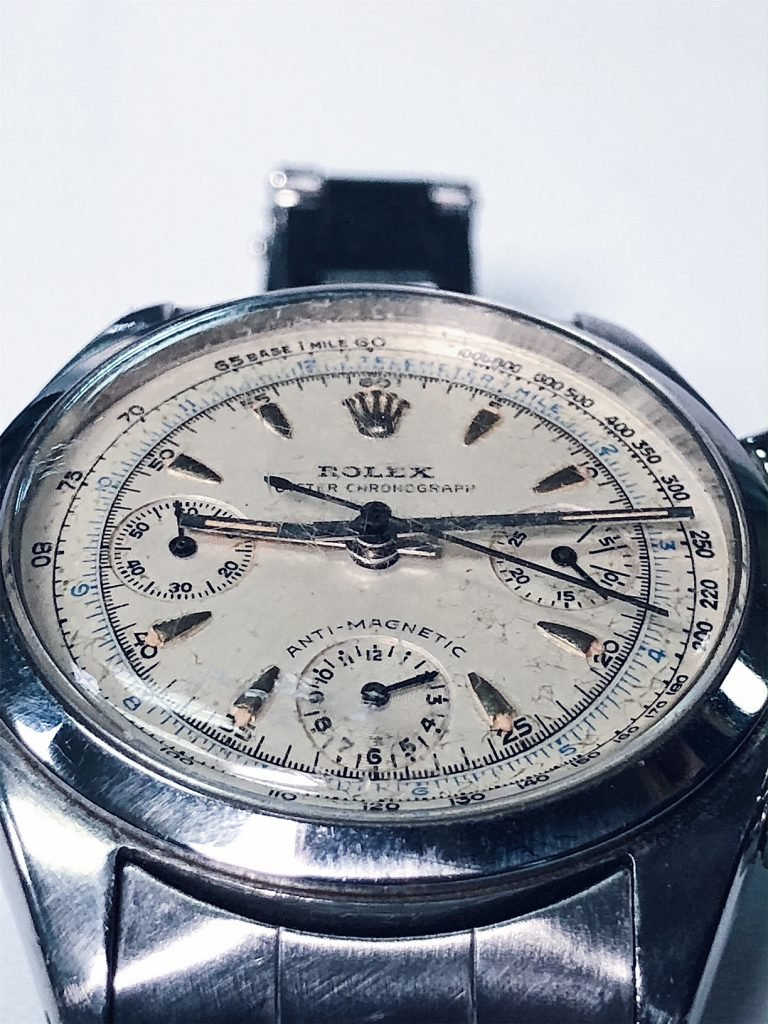 The vintage Rolex Chronograph pre-dates the Daytona