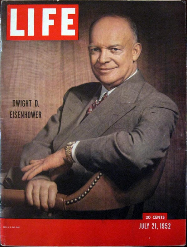 Dwight Eisenhower Wearing Rolex Watch on Cover Life Magazine