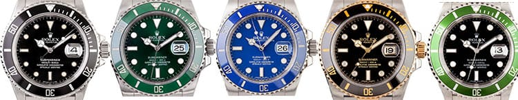 rolex submariner watch line-up