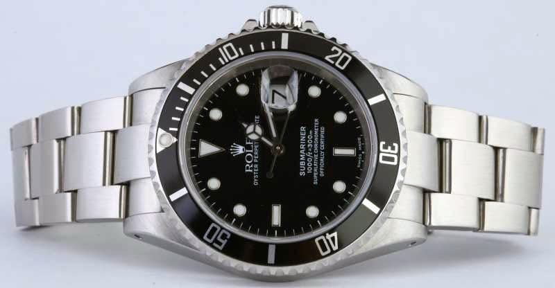 stainless steel rolex submariner reference 16610
