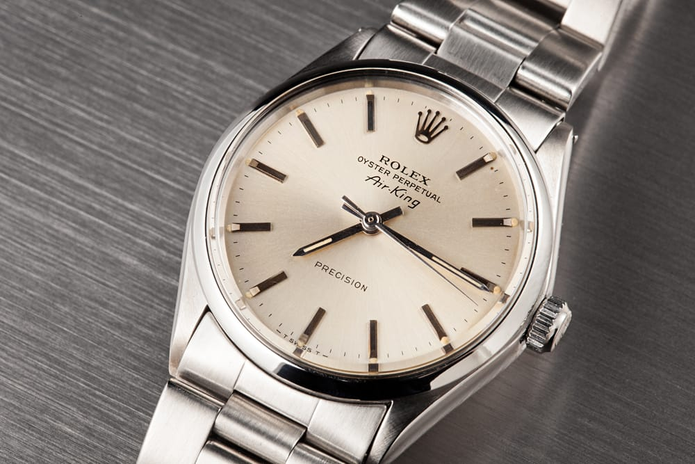 Stainless Steel Rolex Vintage Air King 1002
