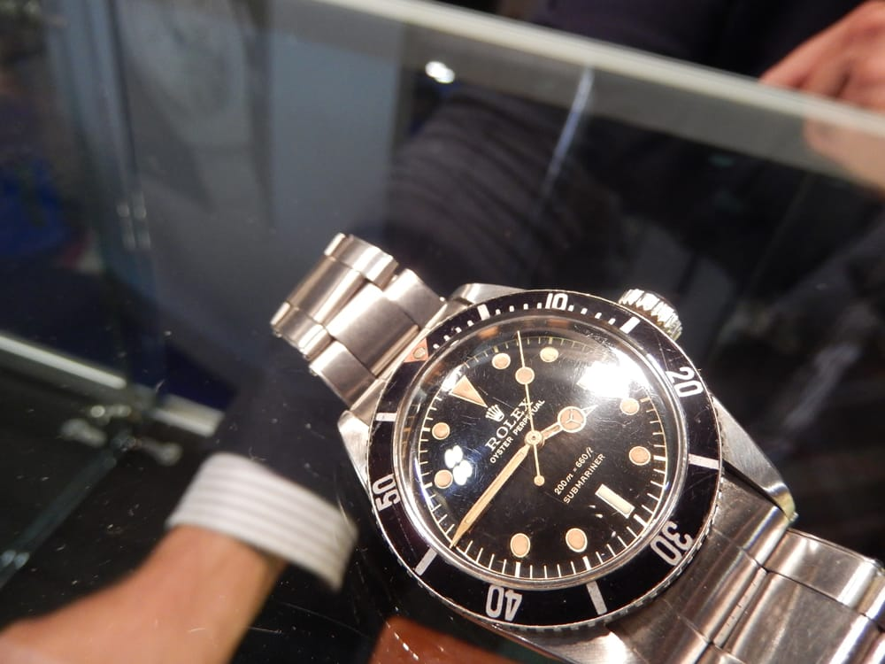 Rolex Submariner Watch Displayed at Parma Vintage Show