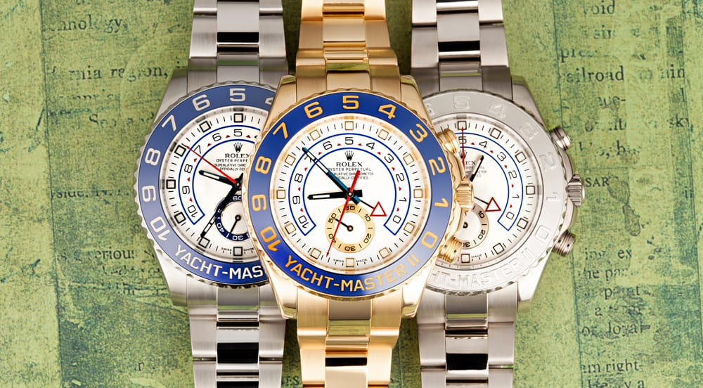 The Rolex Yachtmaster watch size is 44mm
