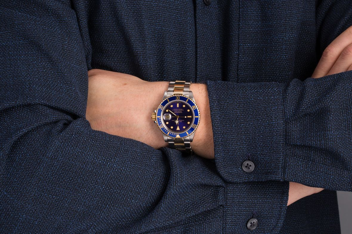 Rolex Submariner Date 16803 Blue Dial