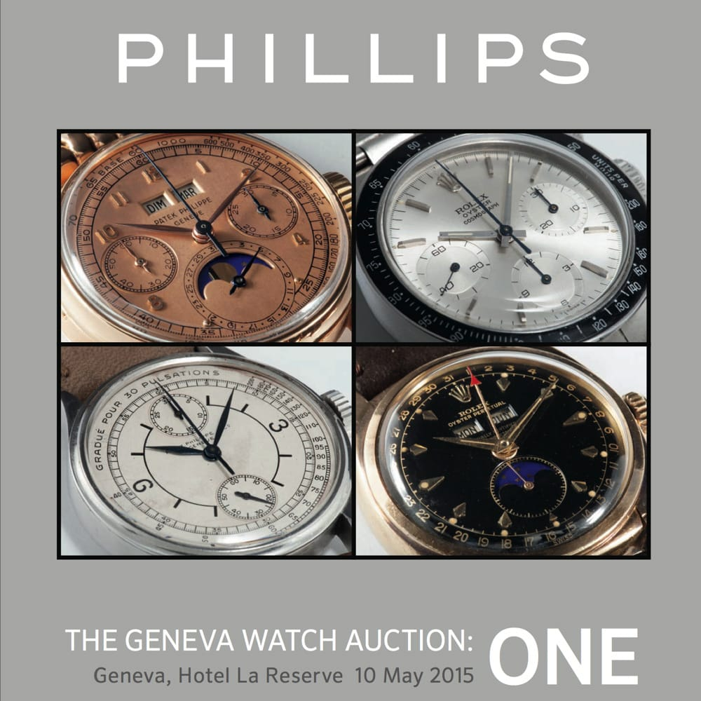 Phillips Geneva One Auction 2015