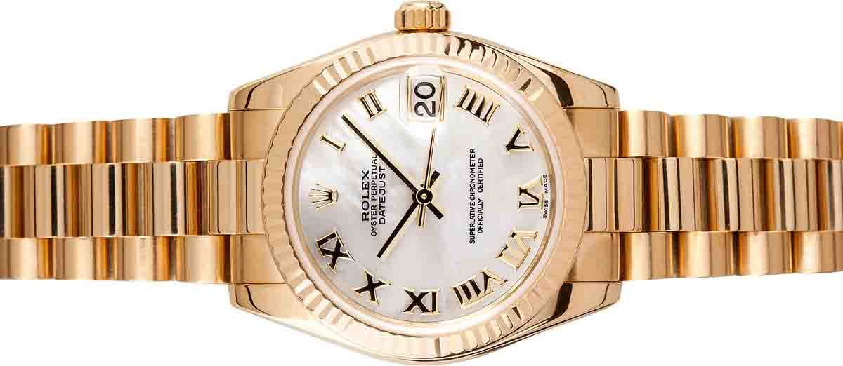 ladies all gold rolex president 178278