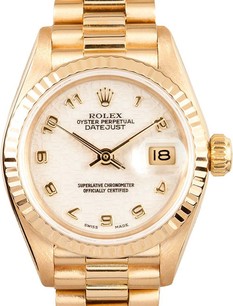 ladies rolex datejust gold 69178