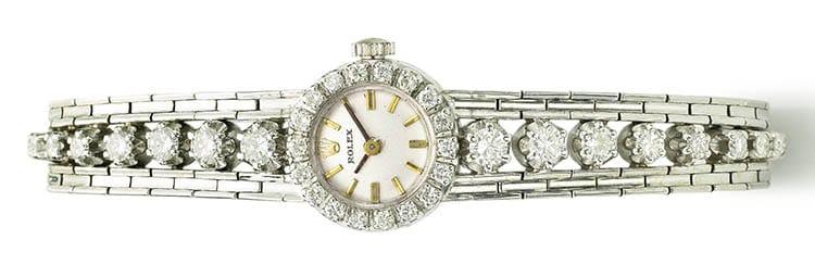 ladys white gold diamond set bracelet 228
