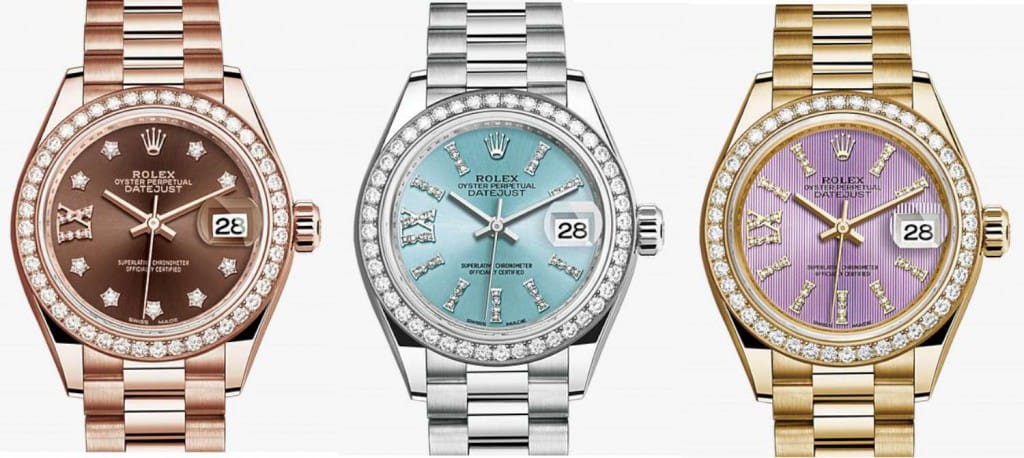 3 rolex lady datejust watches