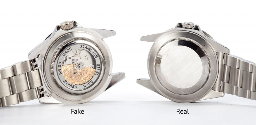 Fake Clear Caseback vs Real Rolex Case Back