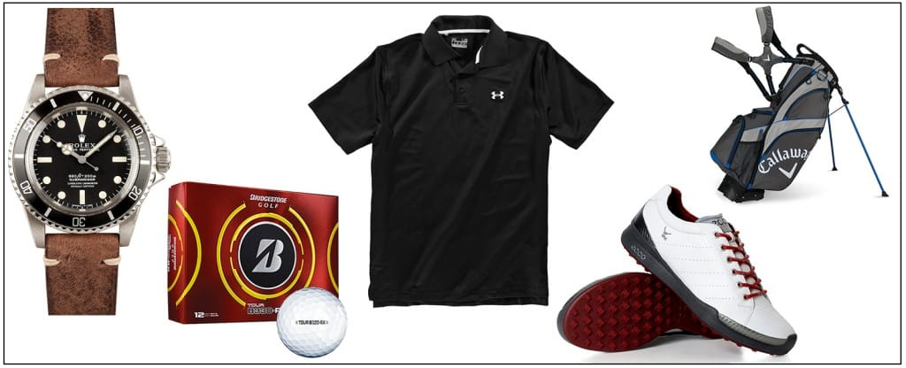 golfing gear, clothing and accessories