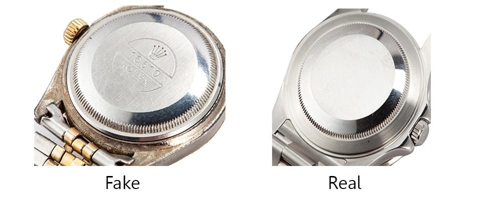 Real vs Fake Rolex Engravings