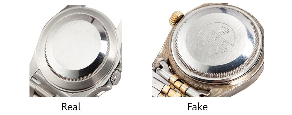 Real vs Fake Rolex Engravings - Bob's Watches