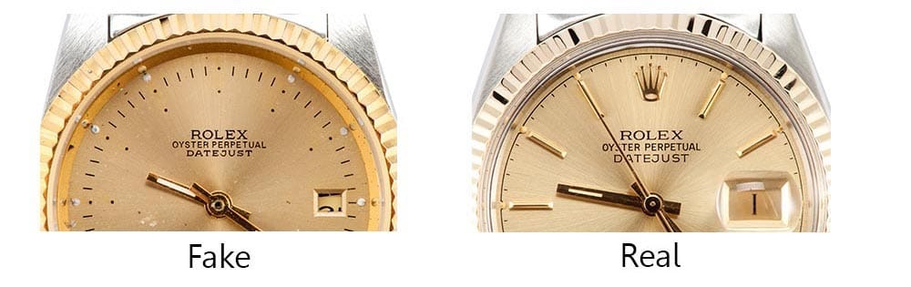 real vs fake rolex stampings - Bob's Watches