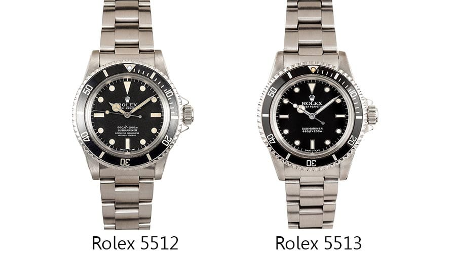 rolex 5512 and 5513 submariner watches