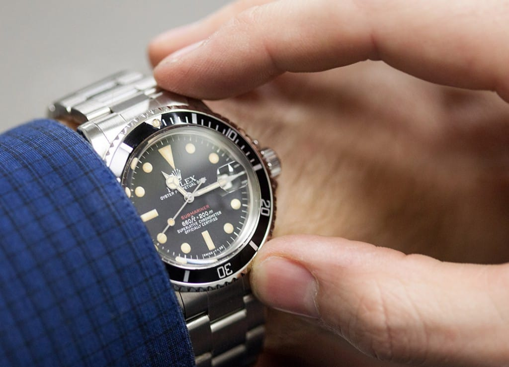 rolex oyster vintage stainless-submariner rerfernce 5512