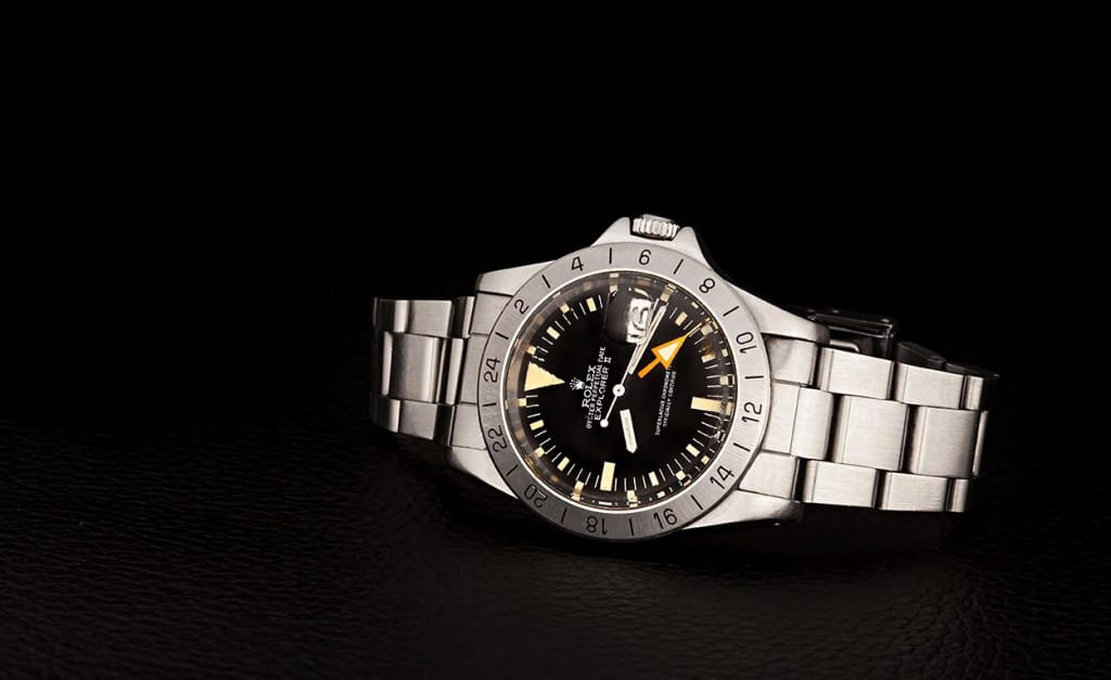 Vintage Rolex Explorer II 1655 is also called the Jean-Claude Killy