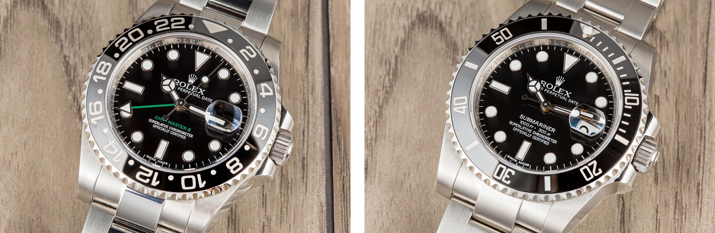 Submariner GMT Master comparison