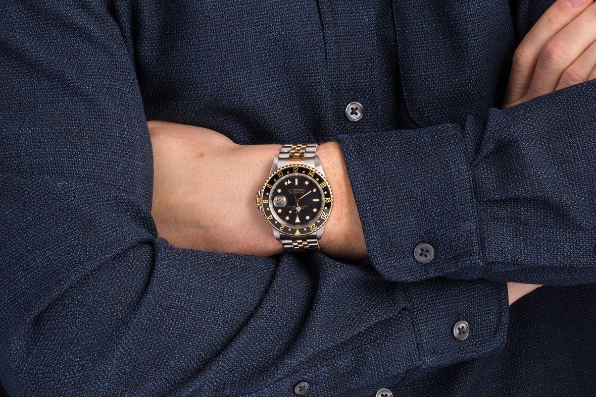 Two-Tone Rolex GMT-Master II 16713 Jubilee Bracelet