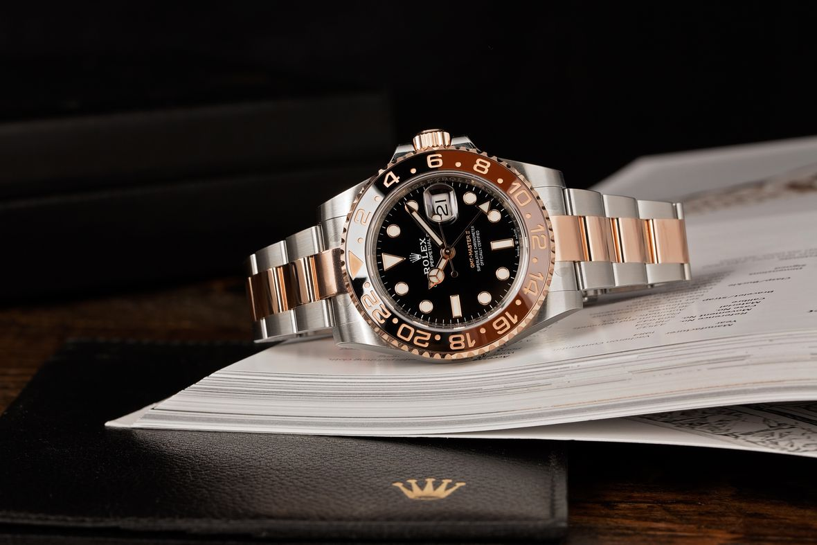 Two-Tone Rolex GMT-Master II Everose Root Beer 126711CHNR