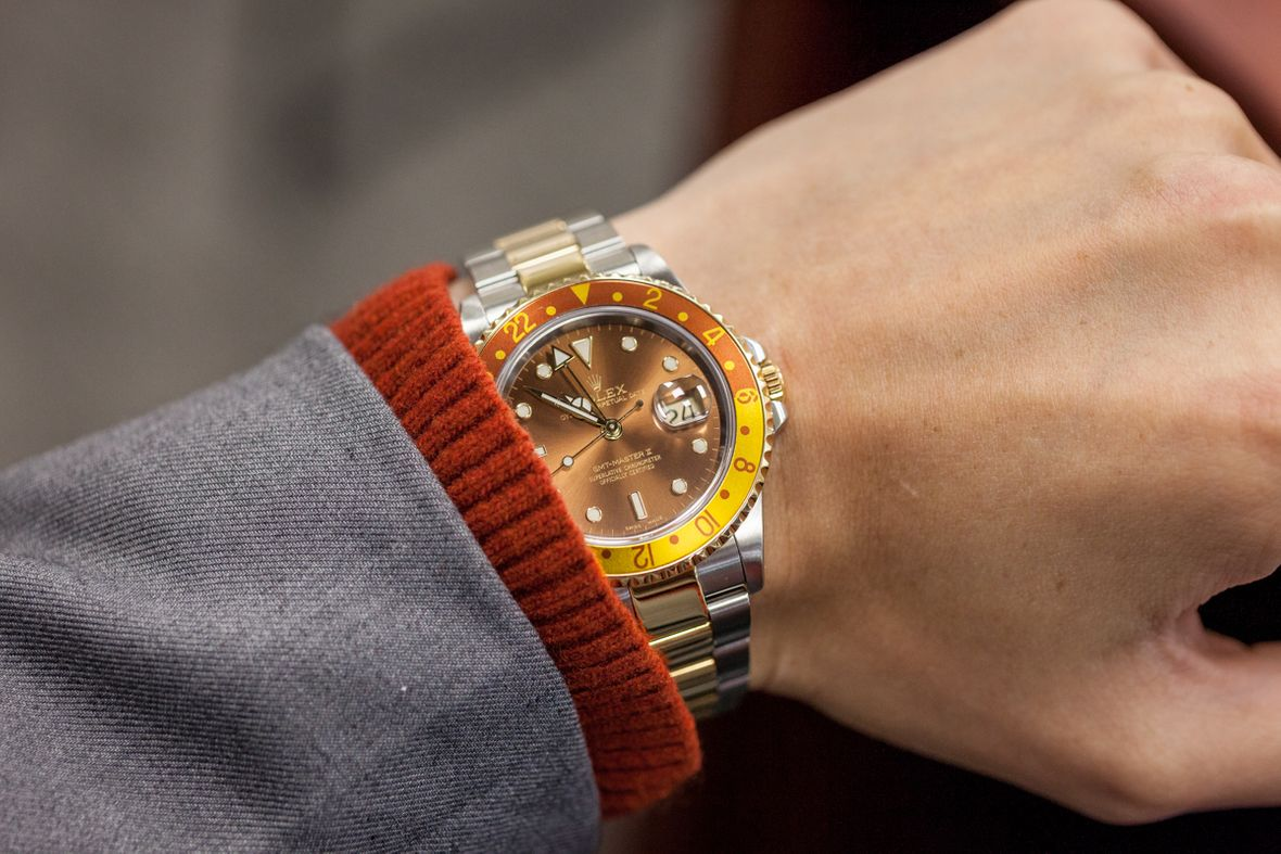 Rolex GMT-Master Two-Tone 16713 Brown Dial Root Beer