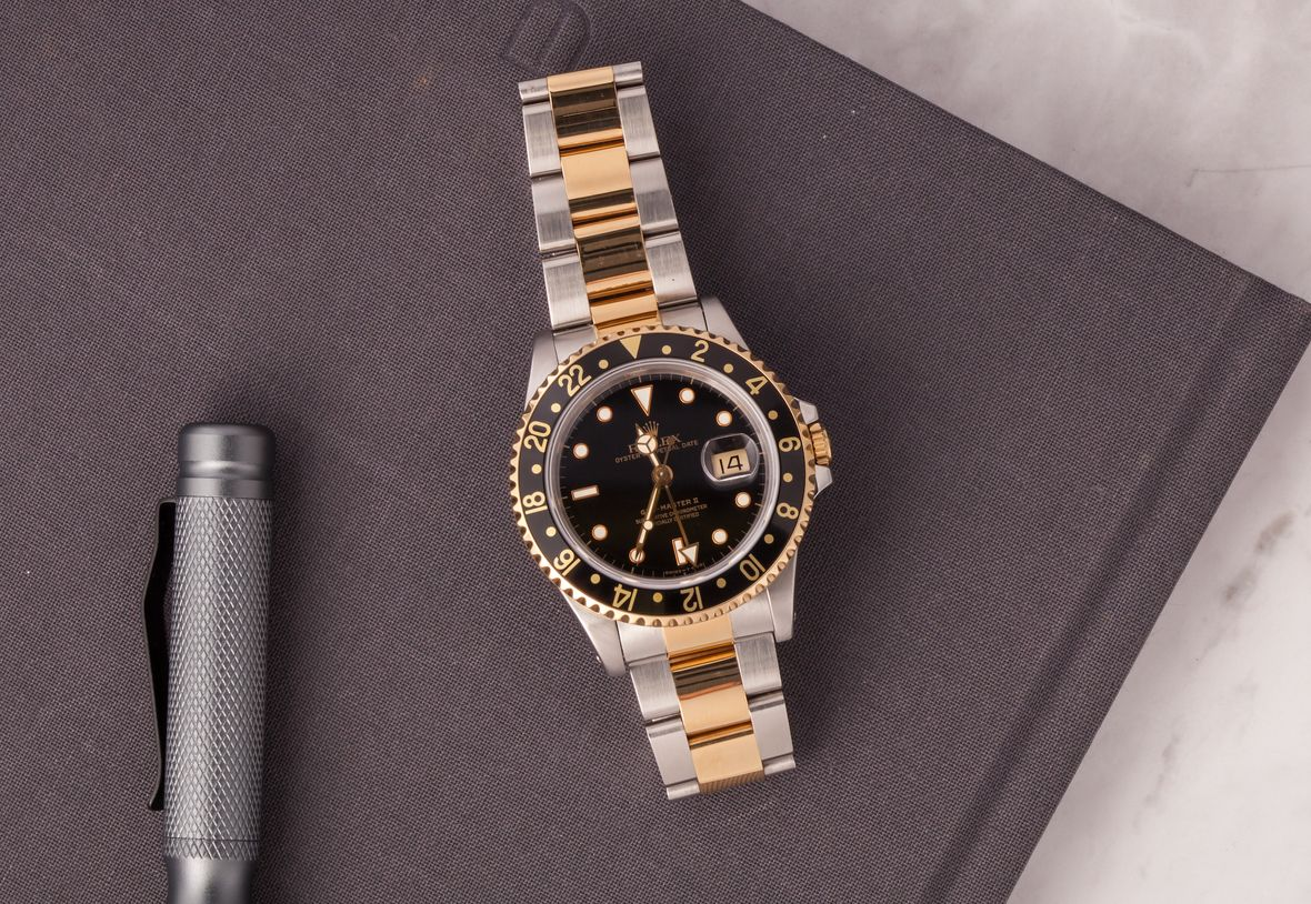 Rolex GMT-Master II Two-Tone 16713 Black Dial