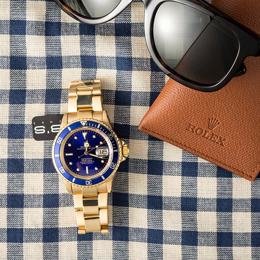 This Golden Rolex is one sure to turn heads.
