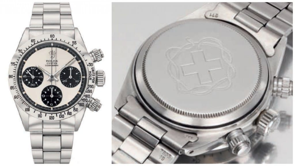 Cosmograph Daytona Paul Newman 6265 Panda Mystery Cross (Image courtesy of christies.com)