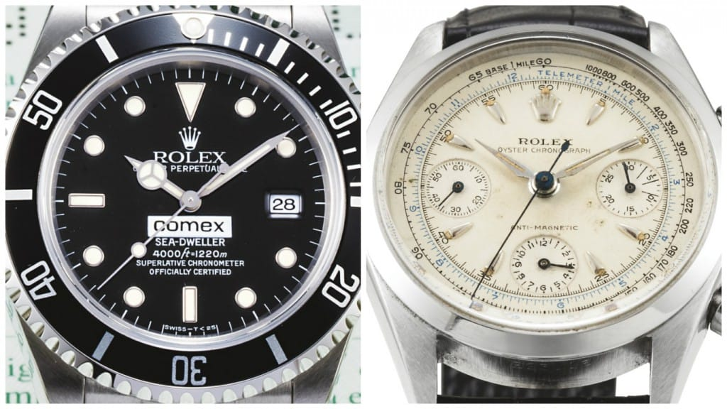 Comex Sea-Dweller & Chronograph 6234 at Sotheby's Auction 2015