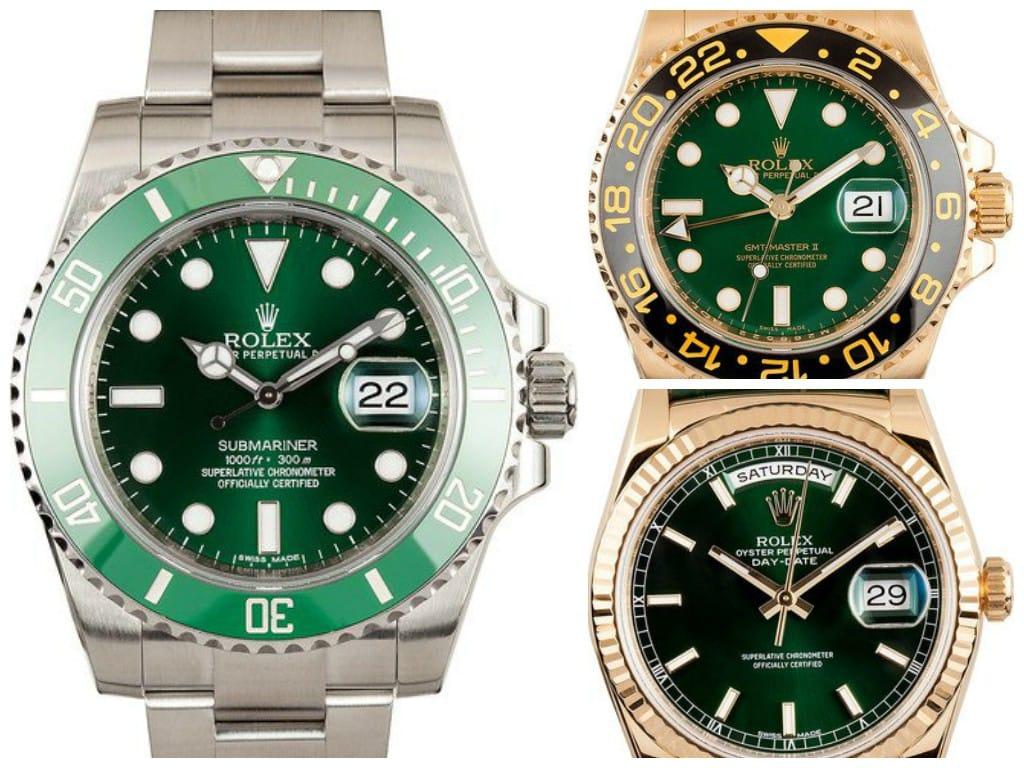 Green Rolex watches