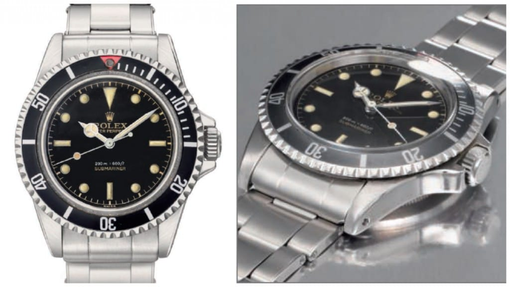 Submariner 5512 Square Crown Guards Photo: Christies.com