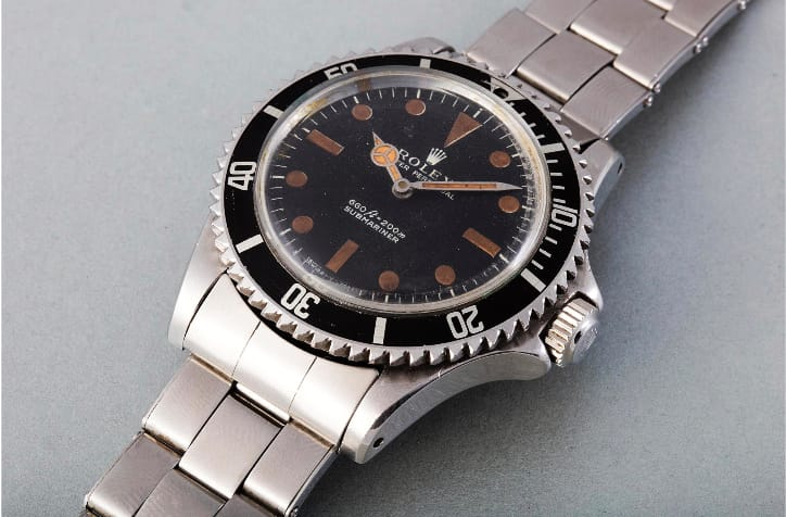 "Submariner 5513 ""James Bond"" (Image courtesy of phillips.com)"