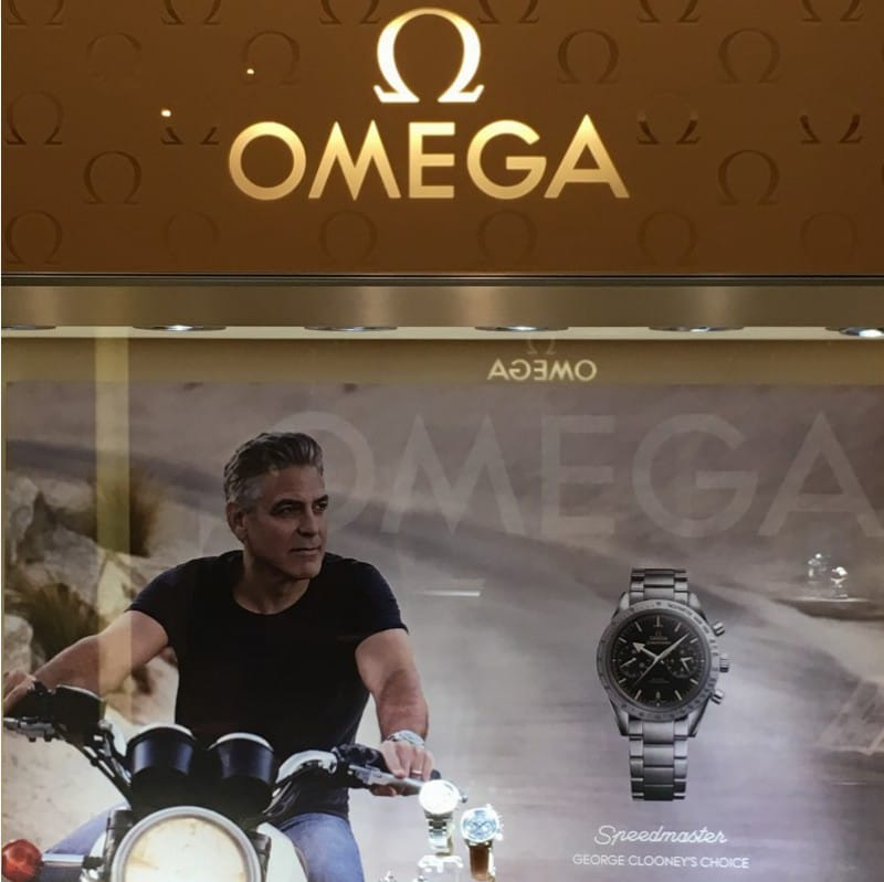 omega timepiece from grand opening in la