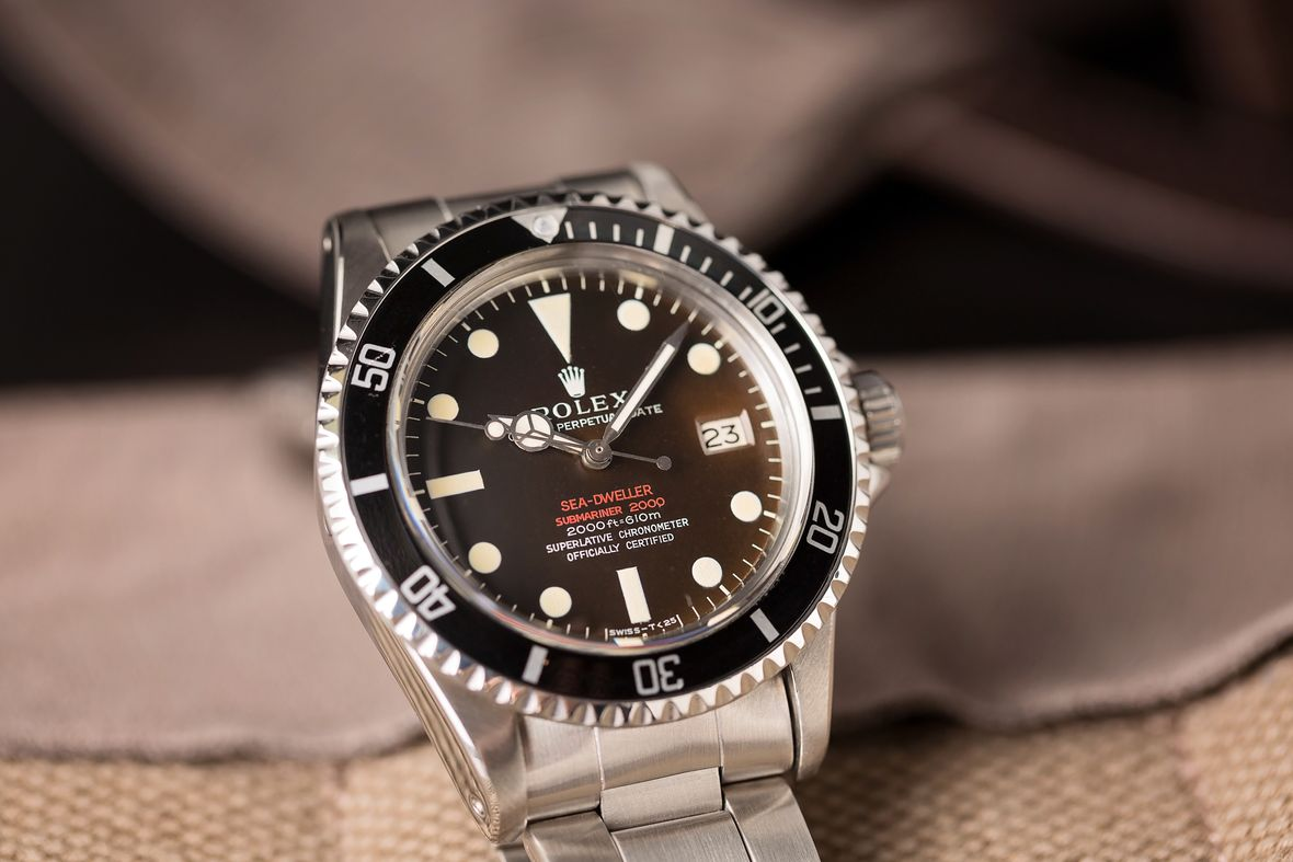 Rolex Double Red Sea-Dweller Reference 1665 DRSD Tropical Dial