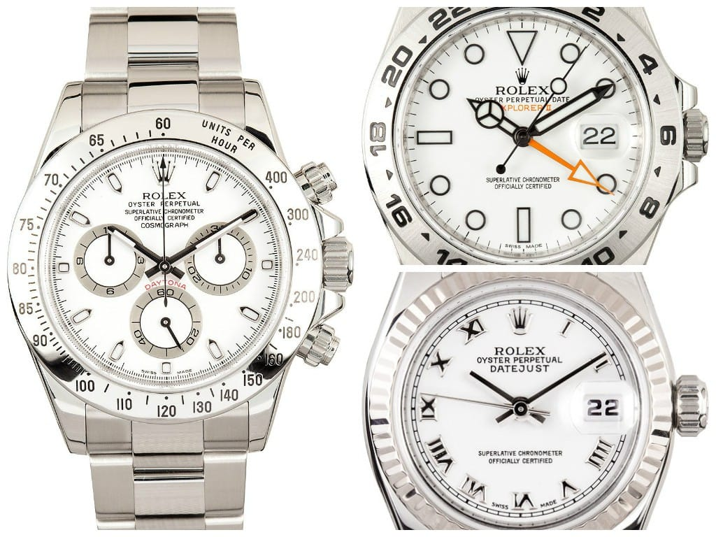Stainless Steel White Dial Rolex
