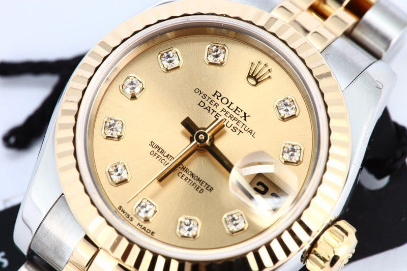 lady datejust champagne dial