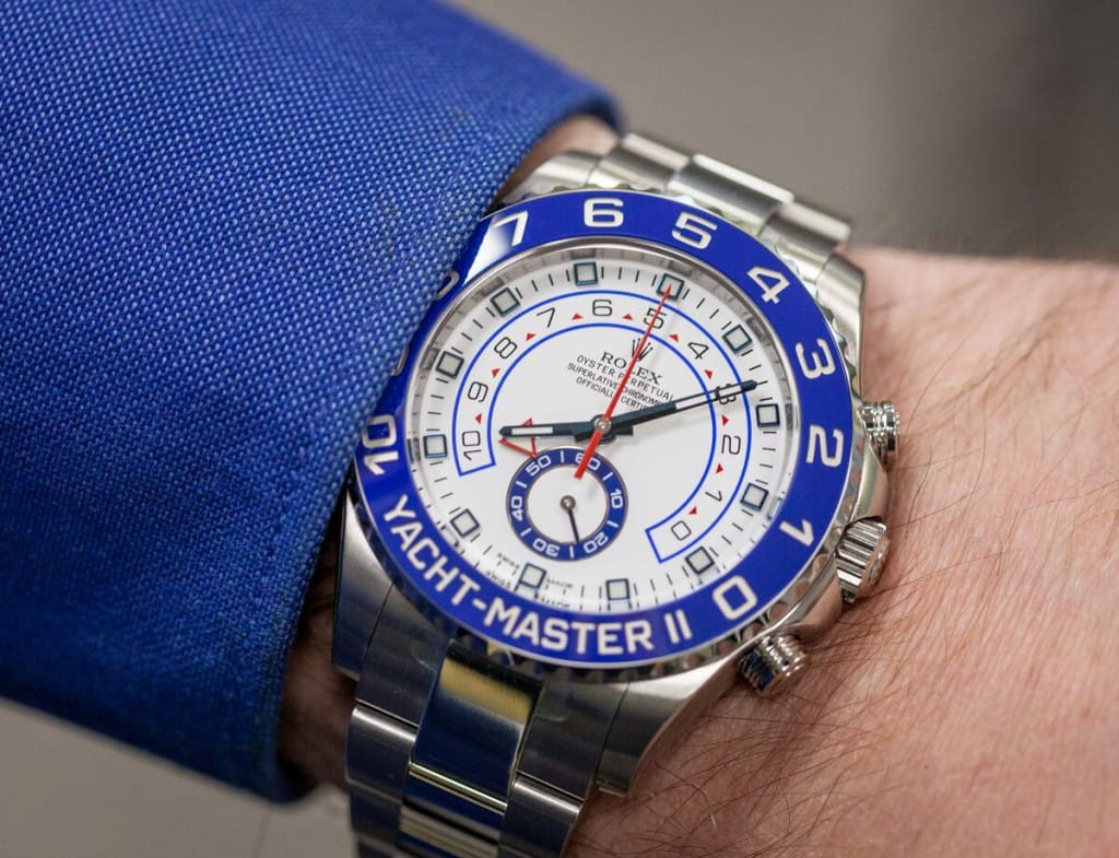 The Yacht-Master II is an oversized version of the classic original