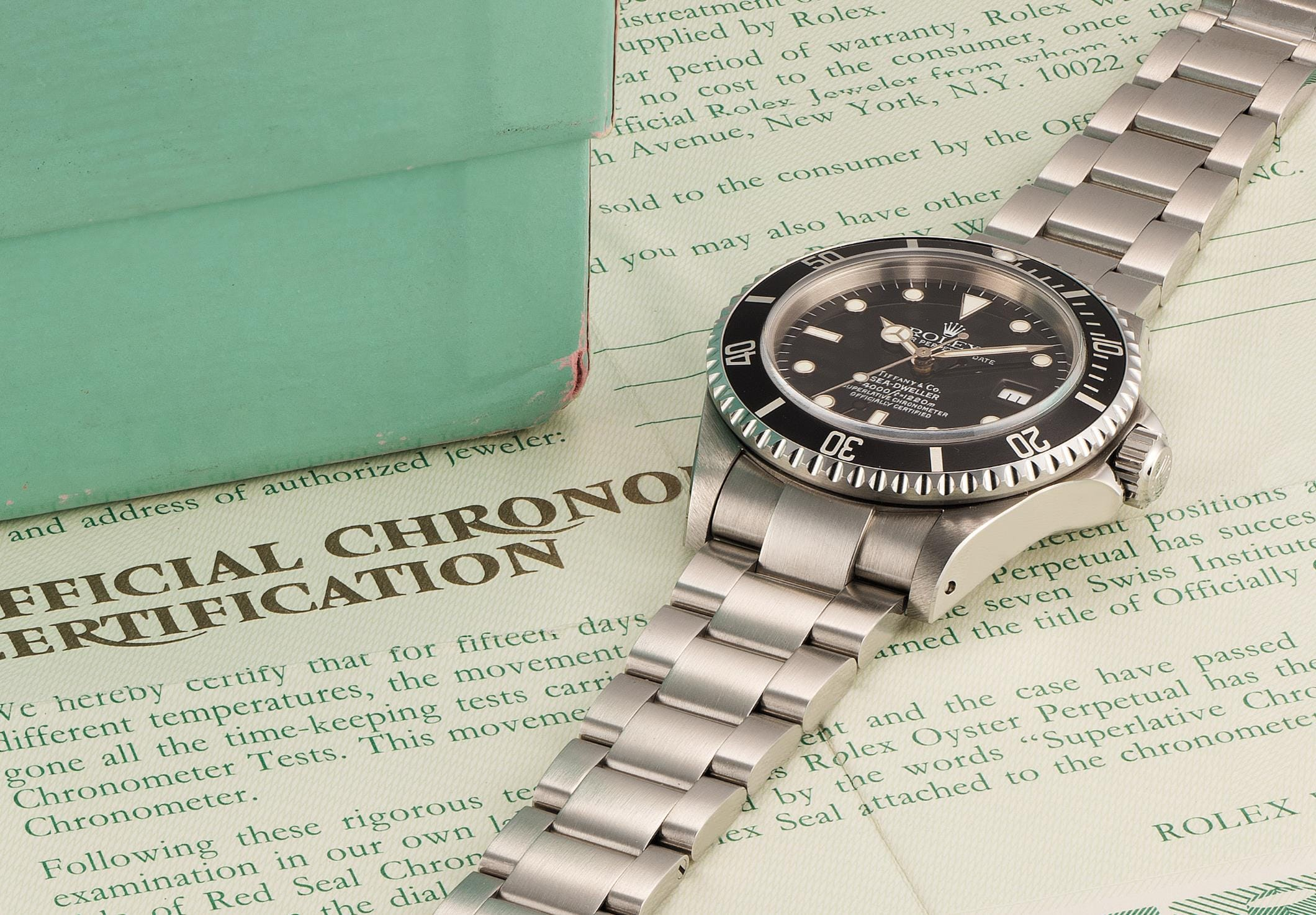 Rolex Sea-Dweller 16600 Tiffany & Co. at phillips auction
